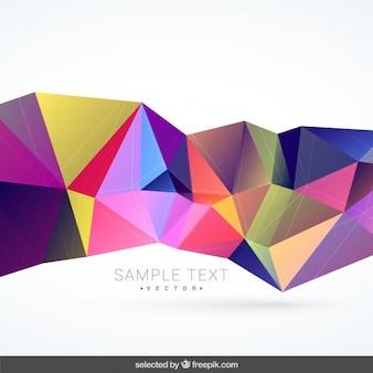 Achtergrond met kleurrijke veelhoekige vorm