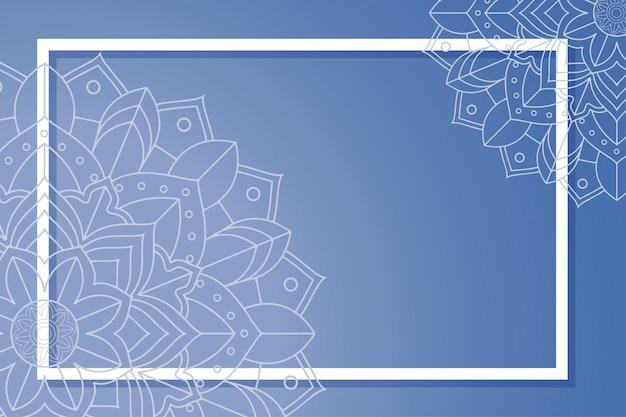 Achtergrond met mandala ontwerp en frame
