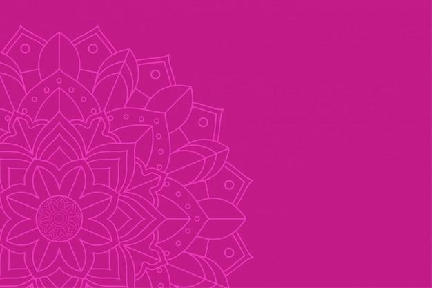 Achtergrond met mandala-ontwerp