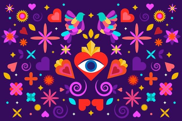 Achtergrond met mexicaans ontwerp
