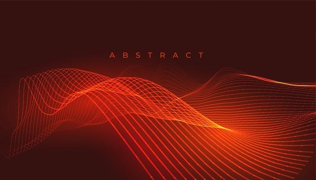 Achtergrond met oranje of rode gloeiende lijnen