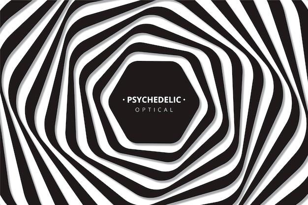 Achtergrond met psychedelische optische illusie