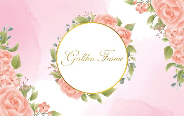Achtergrond met roze aquarel stijl