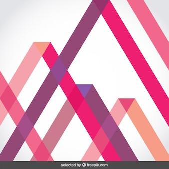 Achtergrond met roze doorschijnende strepen