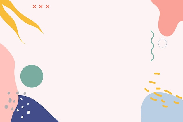 Achtergrond met roze en blauwe memphis-patroon