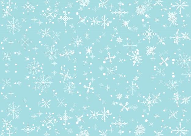 Achtergrond met sneeuw vallen