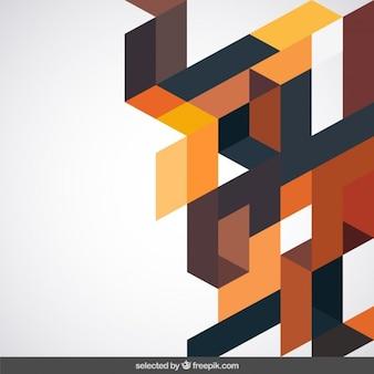 Achtergrond met terracotta geometrische vorm