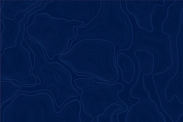 Achtergrond met topografische kaart concept