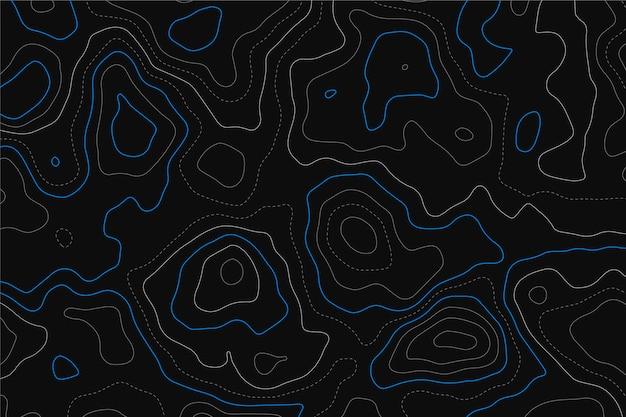 Achtergrond met topografische kaart
