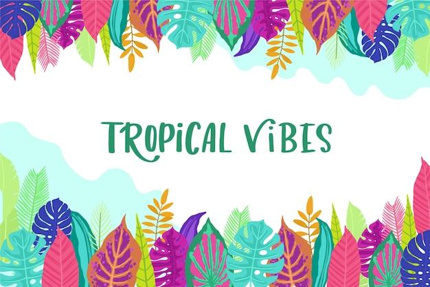Achtergrond met tropische bladeren concept