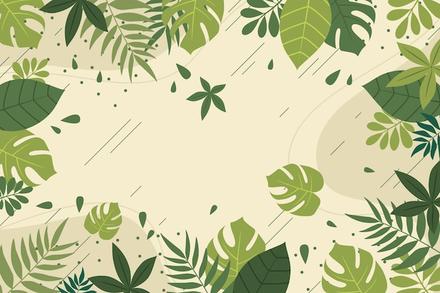 Achtergrond met tropische bladeren ontwerp