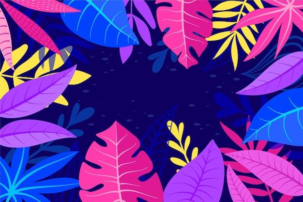 Achtergrond met tropische bladeren stijl