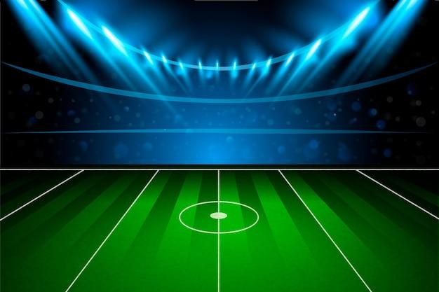 Achtergrond met verloop voetbalveld football