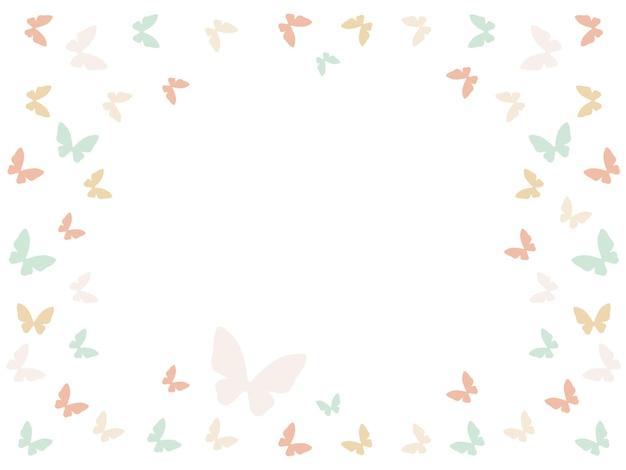 Achtergrond met vlinders en plaats voor tekst