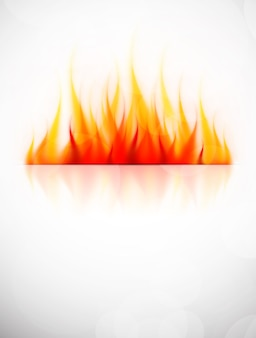 Achtergrond met vuurvlam.
