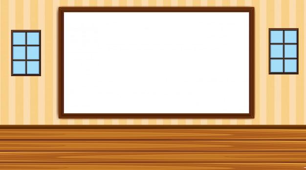 Achtergrond met whiteboard in klas