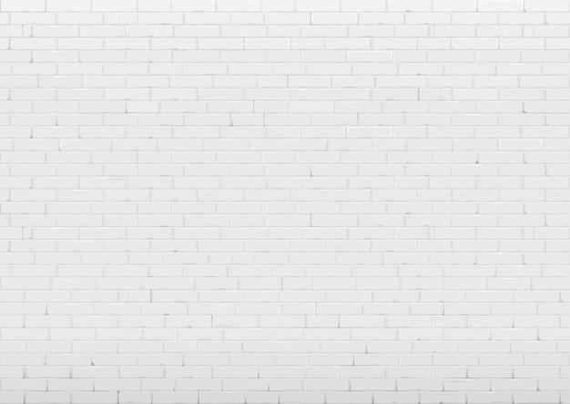 Achtergrond met witte bakstenen muur