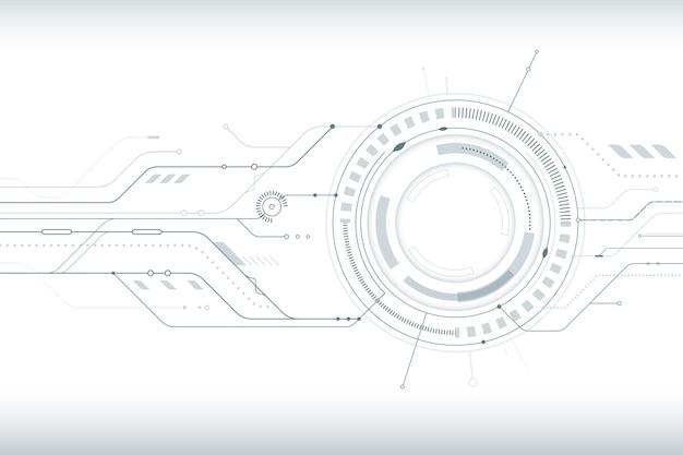 Achtergrond met witte technologiestijl