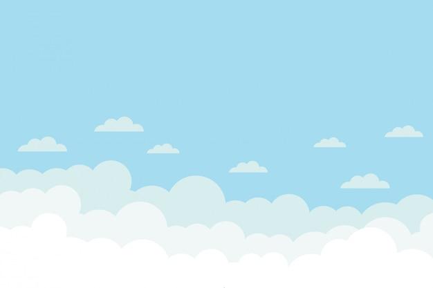 Achtergrond met wolken op blauwe hemel