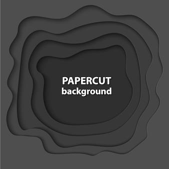Achtergrond met zwarte kleur papier gesneden