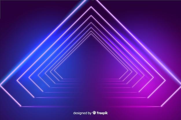 Achtergrond neonlichten podium