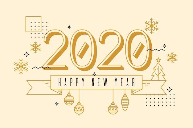 Achtergrond nieuw jaar in overzichtsstijl