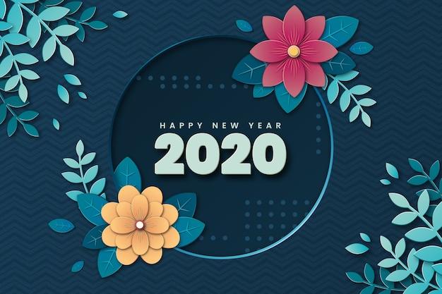 Achtergrond nieuwjaar in papierstijl