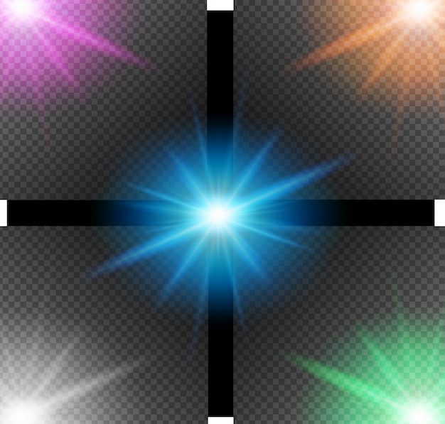 Achtergrond ontwerp met verschillende kleurenlichten