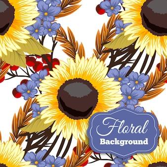 Achtergrond ontwerpen van zonnebloemen