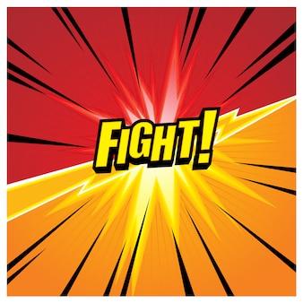 Achtergrond ontwerpsjabloon met gevechtsthema