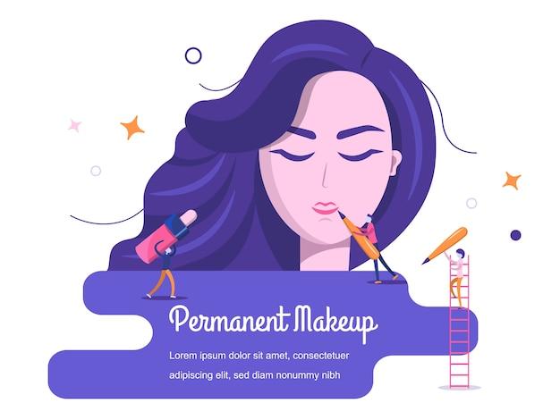 Achtergrond permanente make-up