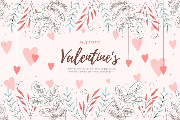 Achtergrond platte valentijnsdag