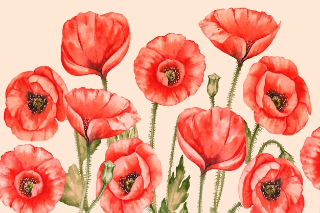 Achtergrond realistische handgeschilderde bloemen