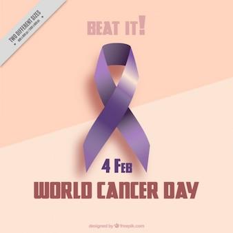 Achtergrond serveerde ze een wereld kanker dag lint
