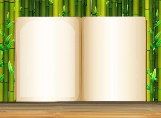Achtergrond sjabloon met bamboe Gratis Vector