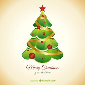 Achtergrond sjabloon met kerstboom