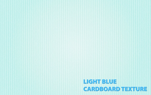 Achtergrond sjabloon met licht blauwe kartonnen textuur