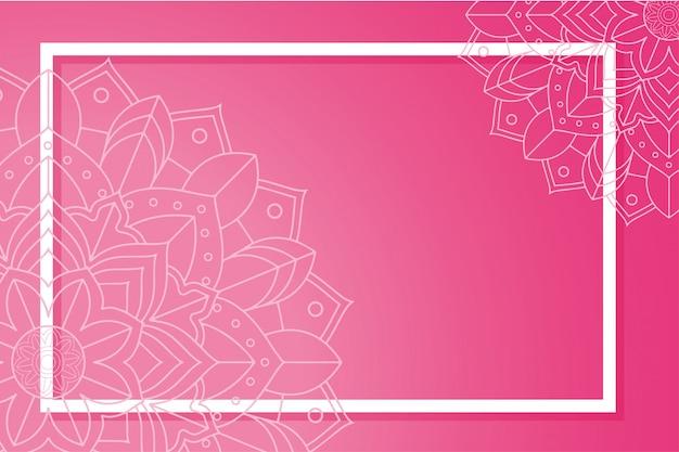 Achtergrond sjabloon met mandala frame