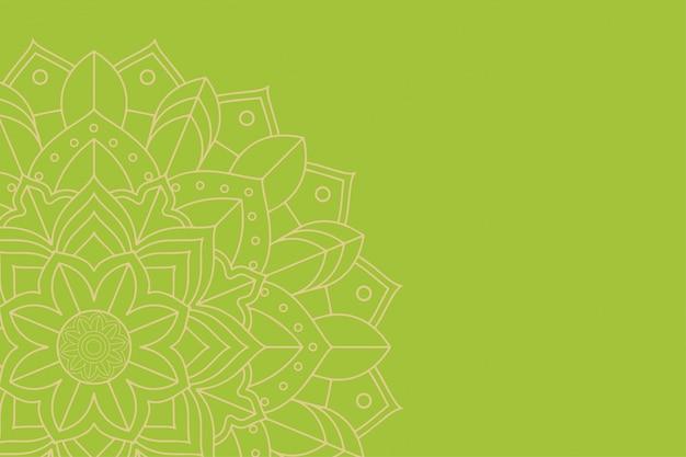 Achtergrond sjabloon met mandala-ontwerp