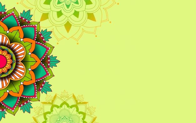 Achtergrond sjabloon met mandala patroonontwerp