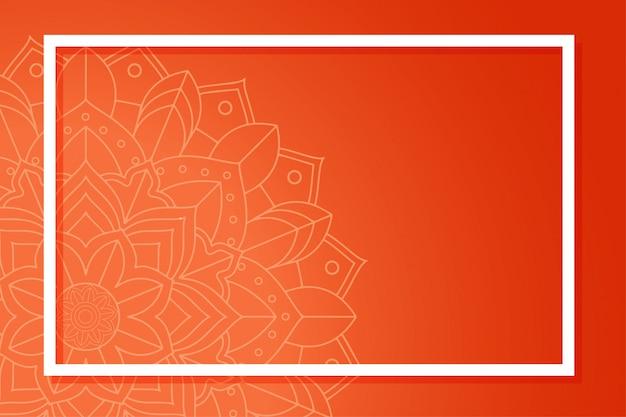 Achtergrond sjabloon met mandala