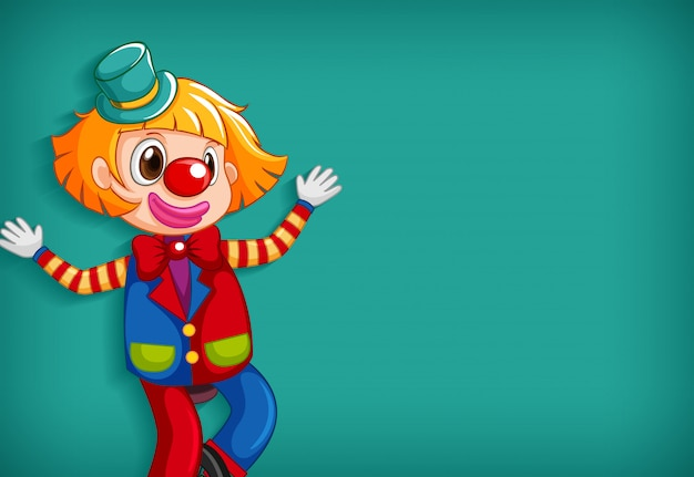 Achtergrond sjabloonontwerp met gelukkige clown