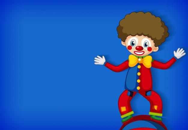 Achtergrond sjabloonontwerp met gelukkige clown Gratis Vector