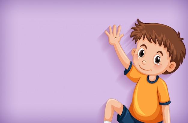 Achtergrond sjabloonontwerp met gelukkige jongen