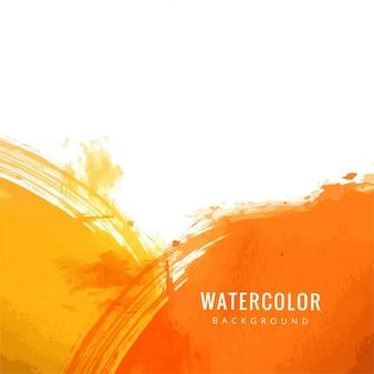 Achtergrond textuur, geel en oranje aquarel