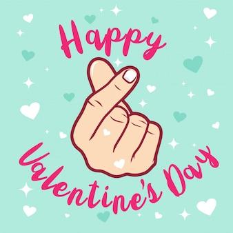 Achtergrond valentijnsdag met hand en liefde