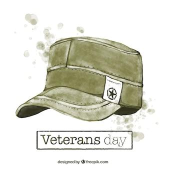 Achtergrond van aquarel veteranen dag
