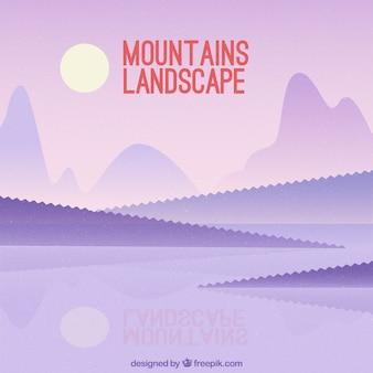 Achtergrond van bergen met lake