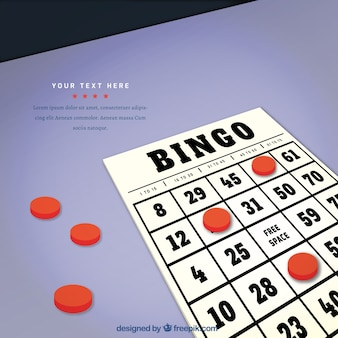 Achtergrond van bingo stemming in realistische stijl