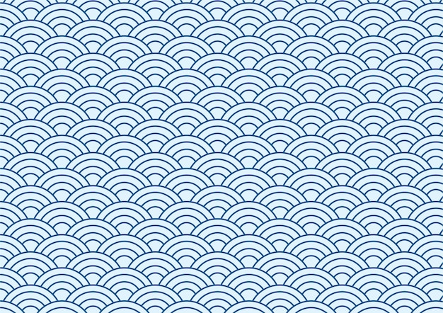 Achtergrond van blauwe japanse golfpatroon
